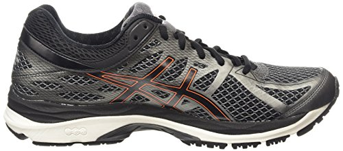 Asics Gel-Cumulus 17, Chaussures de Running Compétition Homme Gris (smoked pearl/black/flash orange 9290)