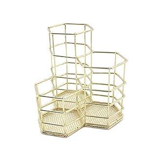 Metall Stifthalter, Hohl Stiftehalter Stifteorganisator Make-up-Pinsel Vase Pot Box Case Schreibtisch aufbewahrung Büro Tisch Organizer Container , 3 Stück