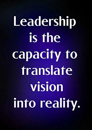 """5 Führung ist die Kapazität zu übersetzen, Vision in Wirklichkeit motivierendem Love Life """","""" Belive Bestimmung Best Color Foto, A4-Poster Unique"""