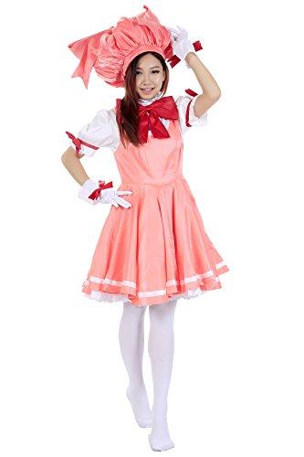 De-Cos Cardcaptor Sakura Cosplay Kinomoto Sakura Outfit 1st Version (Sakura Cardcaptor Cosplay Kostüme)