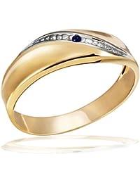 Goldmaid Damen-Ring 333 Gelbgold  1 Safir