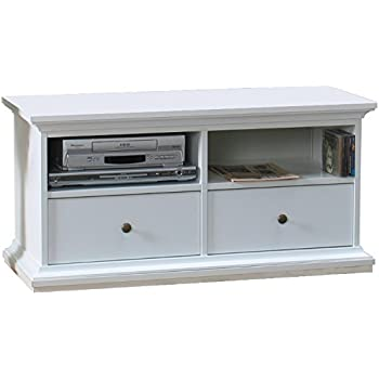 paris tv hifi tisch board lowboard phono schrank kommode wei landhaus k che haushalt. Black Bedroom Furniture Sets. Home Design Ideas
