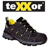 teXXor Sicherheitsschuhe S1 Lyon leichte Arbeitsschuhe, Größe 48, schwarz, 6112