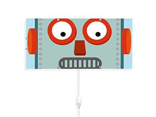 yourdea - Kinderzimmer Wechsel Bild für IKEA GYLLEN Wandleuchte 56cm mit Motiv: Shocked Robot