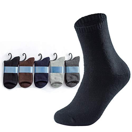 Herren Sportsocken (5 Stück), Herren Deo-Socken, Herren Low Socken, Dicke Winter Einfarbig Warm Tube Socken, Baumwoll-Terry-Herrensocken