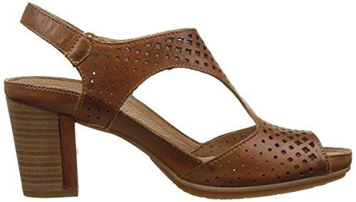 Pikolinos Damen Java W0k_v17 Offene Sandalen mit Keilabsatz Braun (Brandy)
