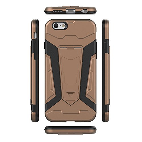 Cover iPhone 6s Custodia iPhone 6 Hard Anfire Belt Clip Holster Kickstand Case Cover per iPhone 6 / 6s (4.7 Pollici) Ultra Sottile Liscio Opaco Antiurto Protettivo Bumper Paraurti Rugged Adatta Shell  Brown