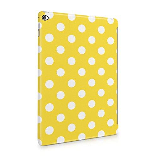 Yellow Polka Dots Pattern Dünne Rückschale aus Hartplastik für iPad Air 2 Tablet Hülle Schutzhülle Slim Fit Case Cover Dots Cover Case Snap