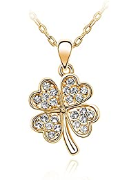 Silver Shoppee Blooming Love 18K Yellow Gold Plated Cubic Zirconia Studded Alloy Pendant For Girls And Women