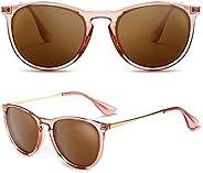 SUNGAIT Gafas de Sol Mujer Hombre Retro Redondas Unisex UV400 Proteccion