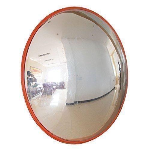 Katsu 457123, gewölbter Spiegel für Verkehr, Straßenspiegel mit weitem Betrachtungswinkel, gewölbter Sicherheitsspiegel , 30cm, 1