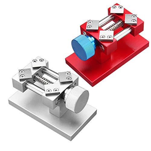 TuToy Uhr Lünette Entfernung Werkzeug Einstellbare Uhr Zurück Fall Öffner Entferner Workbench - Silber