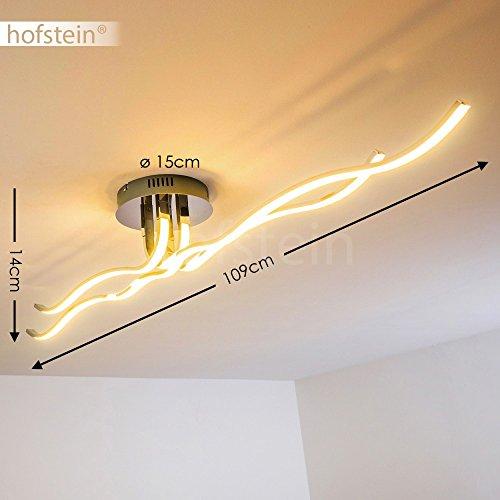 Led Deckenleuchte Fur Das Wohnzimmer Innenraumlampe Mit Gebogenen Lichtleisten Im Warmweissen Licht Metall Lampe Mit Kreativen Wellen Sehr