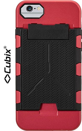 Cubix® Shock proof case for Apple iPhone 6 Fusion Series Back Cover Slim Armor Case Card Slot Rugged Case 4 Side Protection - Blood Red  available at amazon for Rs.799