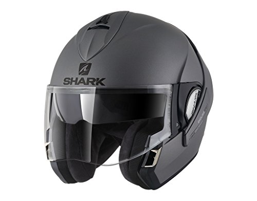 Shark Motorradhelm EVOLINE 3 BLANK Mat AMA, Anthracite, L