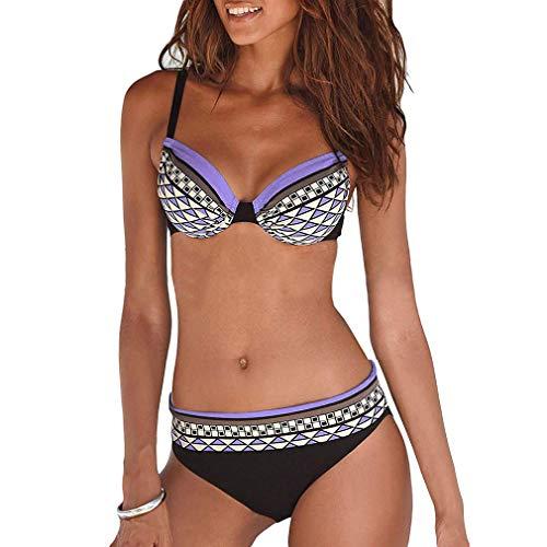 AidShunn Damen Bikini Tankini Sets Neckholder Push Up Badekleid Bademode & L