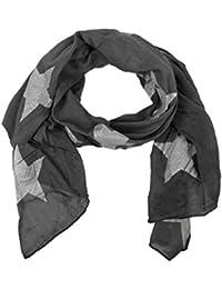 384d6d05627901 Zwillingsherz Seiden-Tuch mit Glitzer Stern - Hochwertiger Schal für Damen  Mädchen - Halstuch -