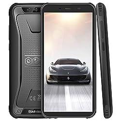 Blackview BV5500 Pro 4G Outdoor Handy mit IP68 Wasserdicht, 5.5 Zoll Smartphone mit NFC und Face ID, 3GB RAM+16GB Speicher (4400mAh Akku, Android 9.0, Dual SIM, Kompass, GPS) Schwarz