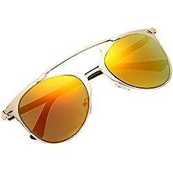 Aulei Populäre Sonnenbrille Unisex Vintage Sunglasses Metall Mirrored Brillen eyewear