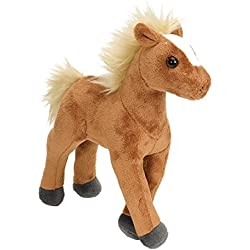 Wild Republic - Mini Caballo de Peluche Cuddlekins, 20 cm, Color marrón (13595)