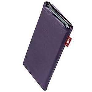 fitBAG Beat Lila Handytasche Tasche aus Echtleder Nappa mit Microfaserinnenfutter für LG G2