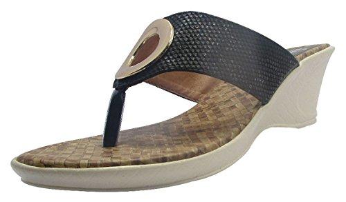 Sammy ouverte sandale coin string chaussures de sport de femmes Noir