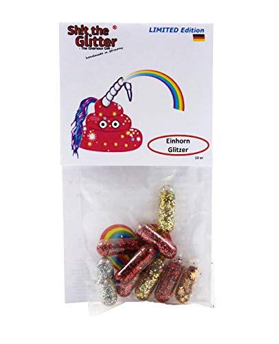Shit The Glitter - Einhorn Glitzer | Unicorn Poop | Einhorn Pups | Glitter Einhorn Glitzer Ausscheidungen | Farben rosa, Gold, grün, rot, blau, lila, Silber
