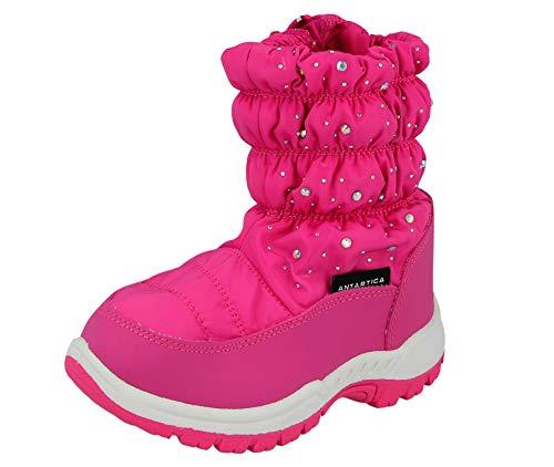 New Boys Girls Kids Snow Boots Waterproof Thermal Wellingtons Fur Winter