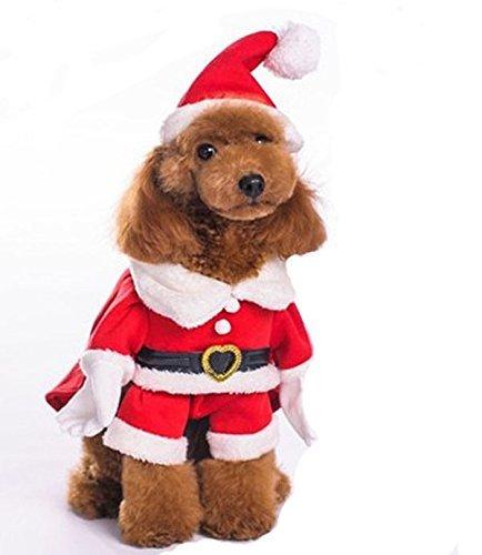Pets Accessories Haustier Kostüme, klassische Weihnachtskostüme mit Hut ( Size : XL )