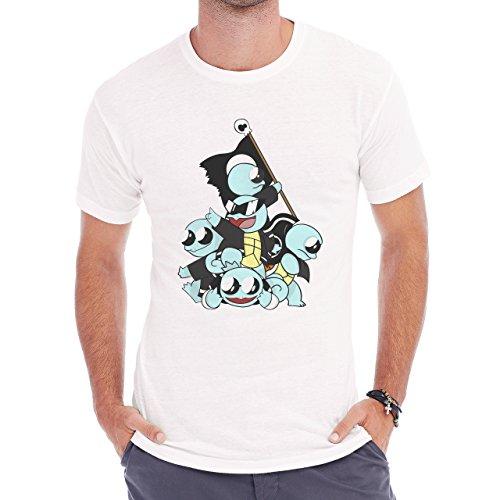 Pokemon Squirtle Water Turtle Squad Big Herren T-Shirt Weiß