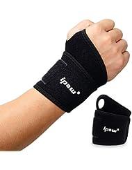 ipow [ 2 PCS Wrist Wraps/Bandage Protection de Poignets/Serre-Poignets soulager la Douleur, Unisex, Convient Toutes Sortes de Sports
