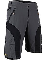 Bicicleta Santic hombres Shorts extraíble 3D 1/2 pantalones anchos acolchados gris