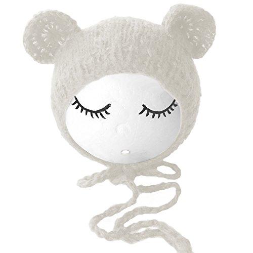 Kostüm Zubehör Prop (Gosear Unisex Neugeborenen Baby Mädchen Boys Schöne Stockfotos Hat Props Kostüm Kleidung Kopfschmuck Zubehör Weiß)
