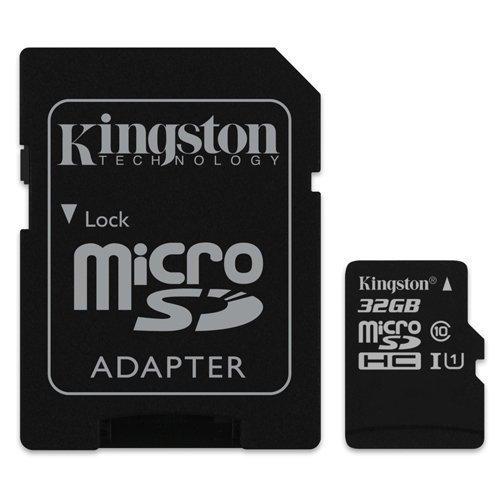 Kingston - Carte Mémoire 32Go Classe 10 MicroSDHC Pour Téléphone HTC Windows 8S