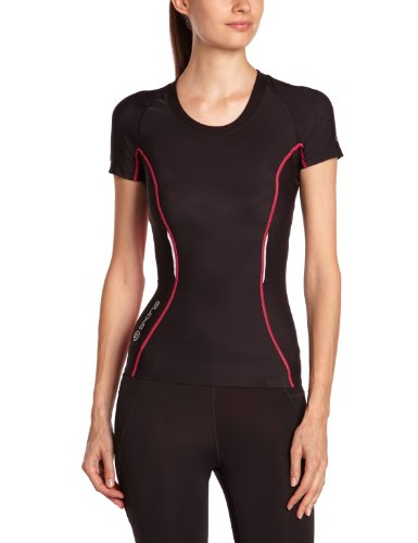 skins-a200-short-sleeve-womens-compression-top-black-pink-s