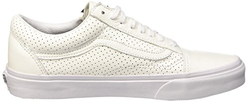 Vans Old Skool Zip, Baskets Basses Mixte Adulte Blanc (Perf Leather/True White)