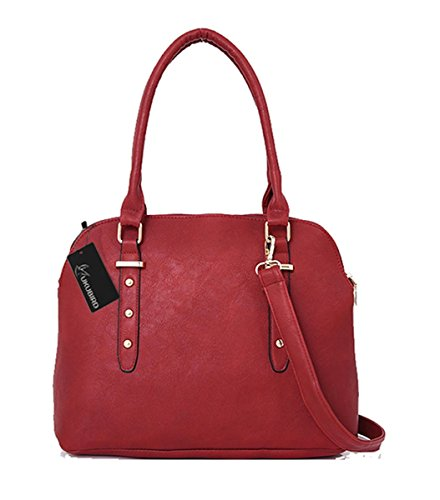 Kukubird Fearne Crossbody Design Top-manico Spalla Tote Borsa Di Qualità Shell Forma Ecopelle Red