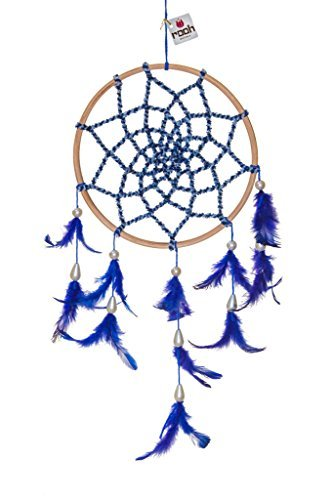 Blau Samt ~ Handgefertigt wandbehängen für Positive (Kann als Home Décor Akzente, Wandbehänge, Garten, Auto, Outdoor, Schlafzimmer, Schlüsselanhänger) (Braun) ()
