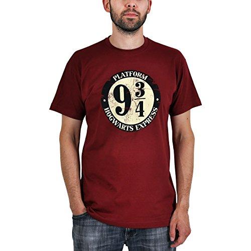 Harry Potter - camiseta del andén 9 y 3/4 - algodón - burdeos - S