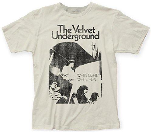 Velvet Underground–luz blanca color blanco calor suave camiseta negro, blanco, L