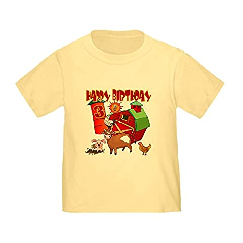 CafePress - Barnyard 3rd Birthday Toddler T-Shirt - Cute Toddler T-Shirt, 100% Cotton