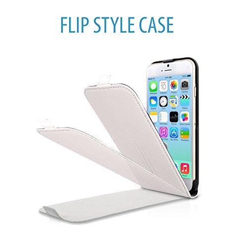V7 PA20Fl-WHT-55-14E Etui flip pour iPhone 6 Blanc blanc