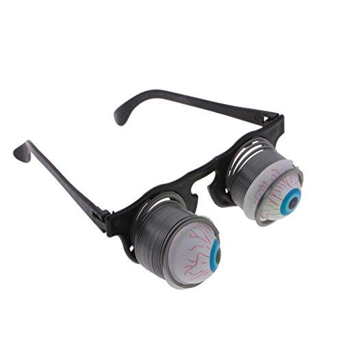 perfeclan Schreckliche Augenbrille Spaßbrille Partybrille, Größe: 5,3 x 4 x 2 cm, aus Plastik