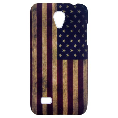 Huawei Ascend G330 USA VINTAGE FLAGGE Schale Schutz Hülle Hard Design Case Cover thematys®