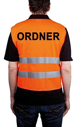 """Preisvergleich Produktbild Qualitäts KFZ-Warnweste """"ORDNER"""", orange"""