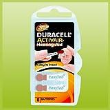 Duracell Easytab / Activair Typ 312 Hörgerätebatterie Zinc Air P312 PR41 ZL3, 60 Stück