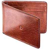 Leather Money Clip Wallet for Men by Danny P. (Dark brown)