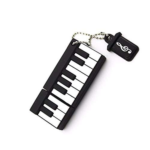 USB-Stick Flash Drive Karikatur Mini Klavier USB 2.0 U Festplatte 4/8/16/32/64 / 128GB HochgeschwindigkeitsüBertragung 52 * 20 * 18 Mm Klein Und Tragbar Computer Auto Mit Stereoanlage (8GB)