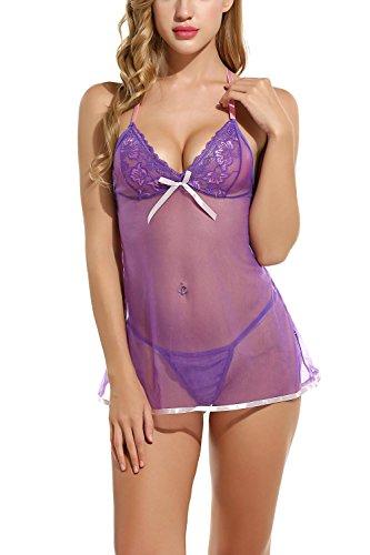 Avidlove Damen Baby Doll Gr. Small, violett