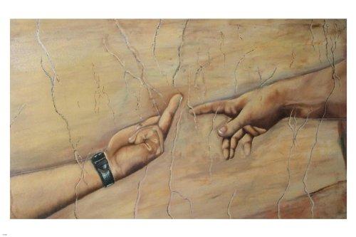 Unbekannt Atheist Version von Michelangelo 's The Creation of Adam Poster 24x 36Funny